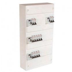 DEBFLEX Tableau électrique pré-équipé 3 rangées 39 modules