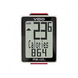 VDO Compteur M2.1 filiaire - 12,4 x 7,2 x 6,2 cm - Noir