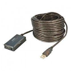 LINDY Hub USB 2.0 actif et déporté - 4 ports - 10m