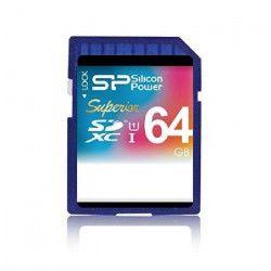 SILICON POWER Carte mémoire SD UHS-1 Superior - 64 Go