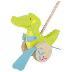 GOKI Crocodilleapousser Susibelle -H19 cm - Bois