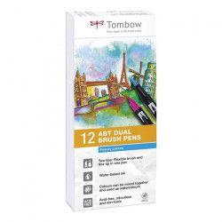 TOMBOW Boite de 12 feutres ABT - Couleurs primaires