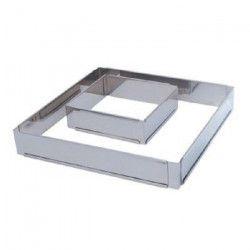 Cercle a entremets ajustable carré en inox