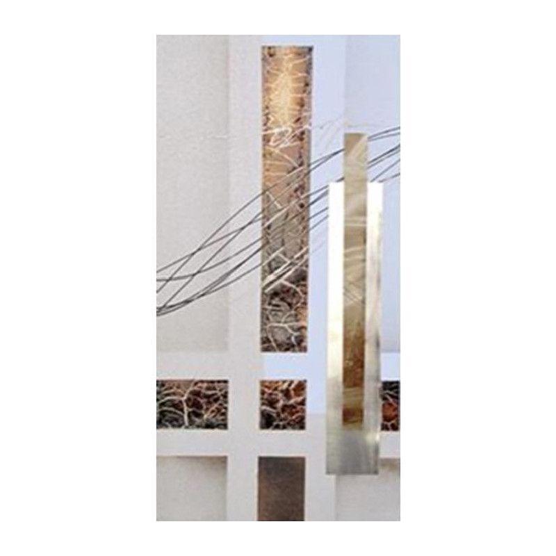 cubic tableau d co toile peinte a la main 30x60 cm. Black Bedroom Furniture Sets. Home Design Ideas