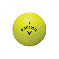 SECOND CHANCE Lot de 12 Balles de Golf Callaway Hot + Hot Pro - Jaune