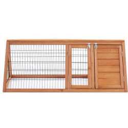 Clapier en sapin Cosie - 118x50x45cm - Bois - Pour lapin