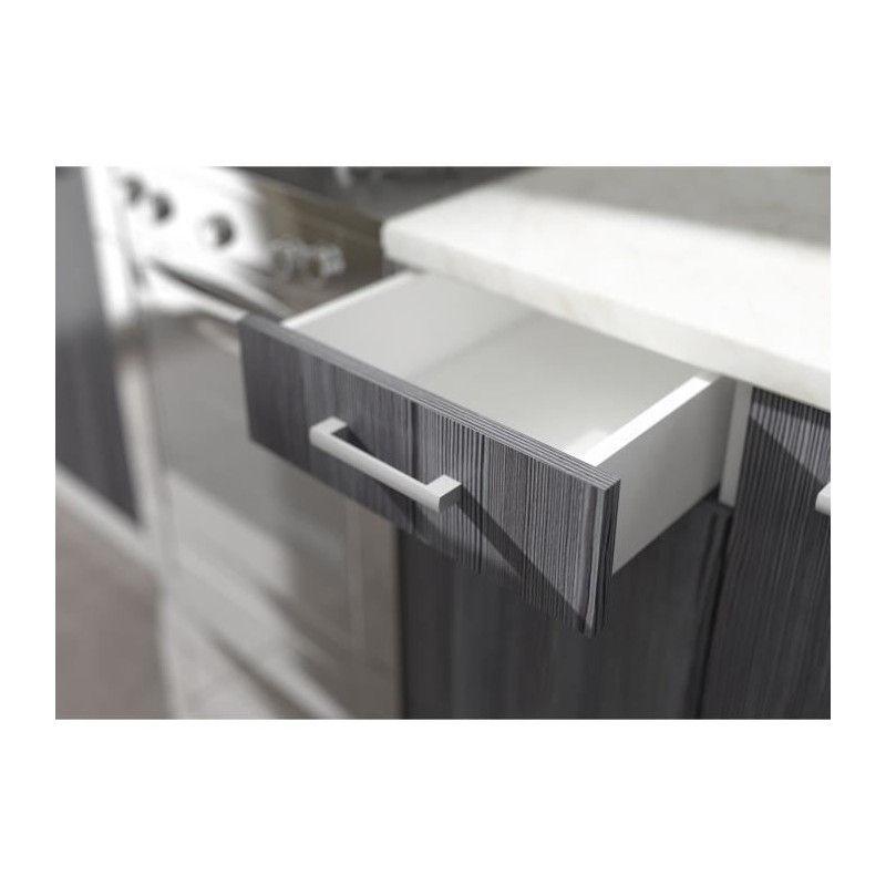 ULTRA Meuble haut de cuisine 40 cm - Décor chene gris