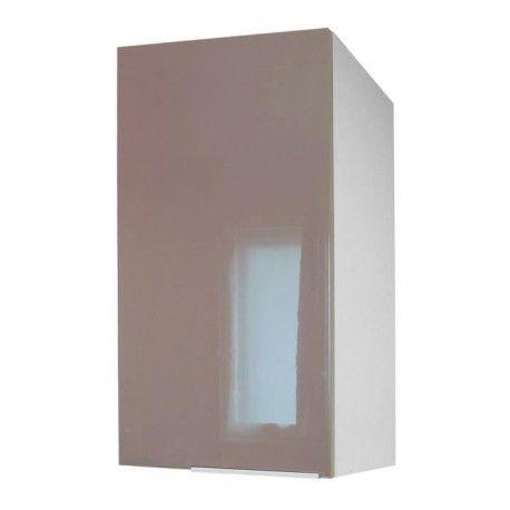 pop caisson haut de cuisine 40 cm taupe haute brillance. Black Bedroom Furniture Sets. Home Design Ideas