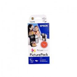 EPSON Pack Papier photo brillant - 135 pages + 6 cartouches Couleurs et Noir - Pour Epson T