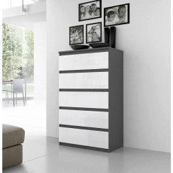 FINLANDEK Commode de chambre NATTI style contemporain gris et blanc - L 78 cm