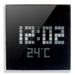 MUNDUS Horloge picot LED avec verre fumé - Noir