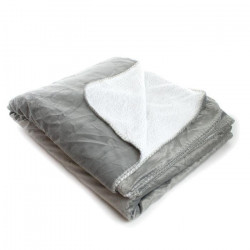 ANDORA Plaid Jessie - 180x220 cm - Gris - 100% polyester