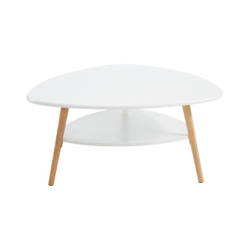 Augustine Table Basse Scandinave Laque Blanc