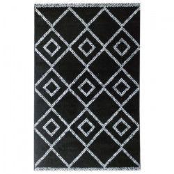 Tapis de salon contemporain TOSCANE Noir et creme 160x230cm