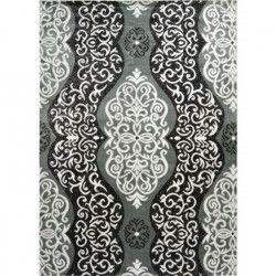 BAHIA Tapis de salon 120x170 cm gris, noir et or