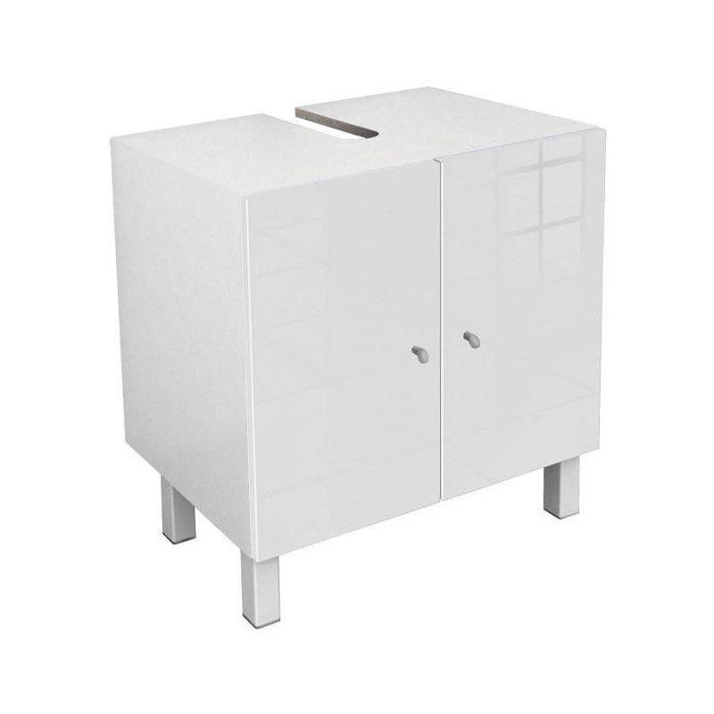 corail meuble sous lavabo l 60 cm blanc laqu. Black Bedroom Furniture Sets. Home Design Ideas