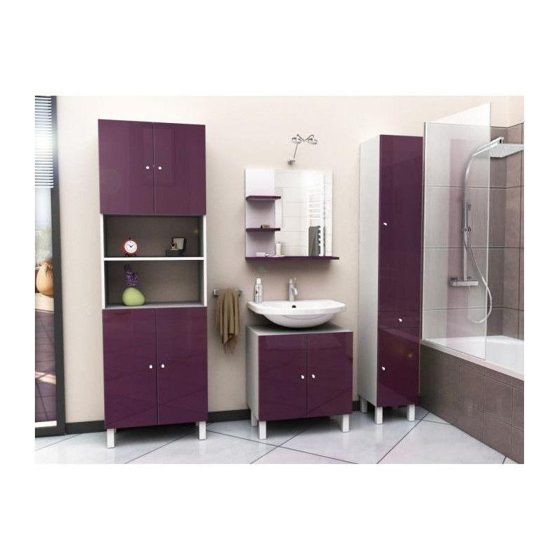 meuble de salle de bain aubergine corail meuble miroir de salle de bain l 60 cm