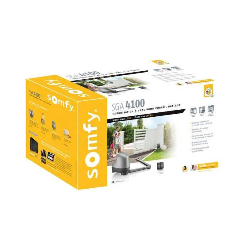 somfy kit de motorisation de portail a bras articul s. Black Bedroom Furniture Sets. Home Design Ideas