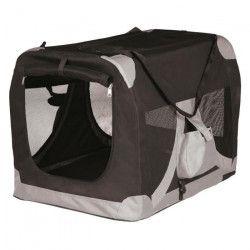 TRIXIE Transport souple S - M : 50x50x70cm - Noir et gris - Pour chien