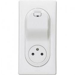 LEGRAND Celiane Prise de courant avec terre affleurante avec 1 prise USB a encastrer blanc