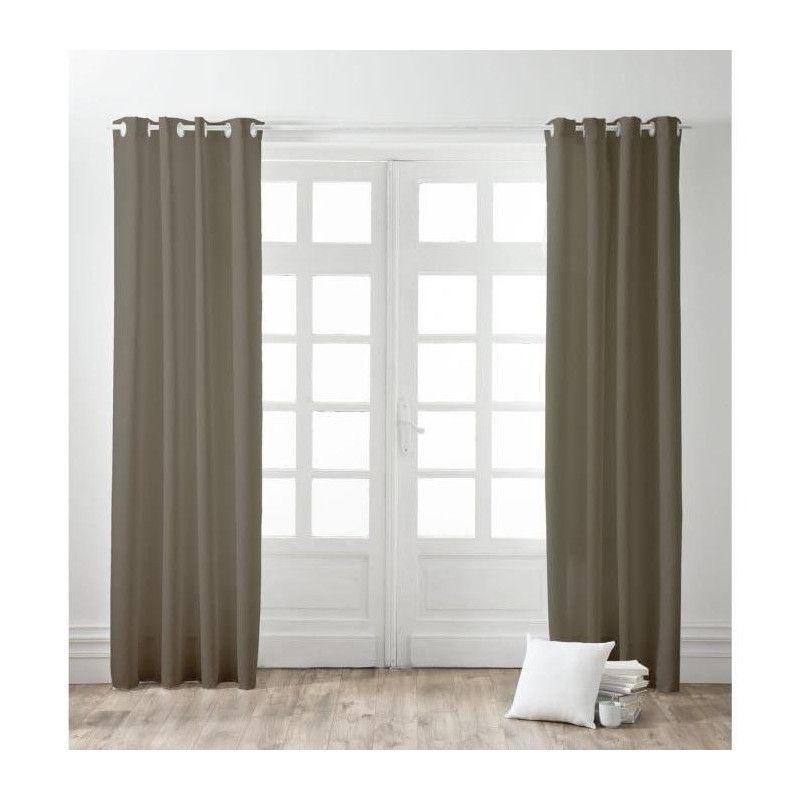 finlandek paire de rideaux a oeillets 100 coton kauha. Black Bedroom Furniture Sets. Home Design Ideas