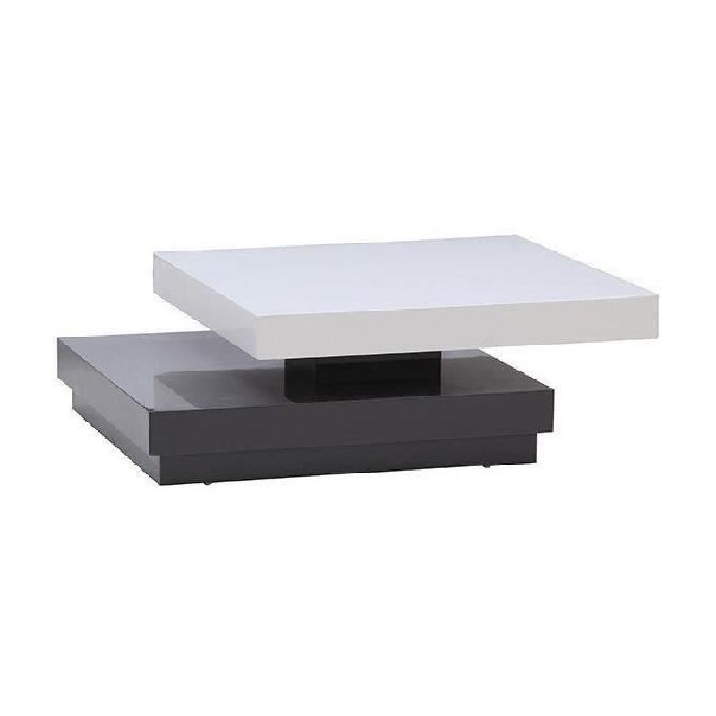 vegas table basse transformable 75x75cm laqu blanc et. Black Bedroom Furniture Sets. Home Design Ideas