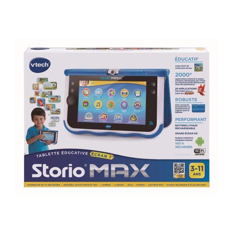 vtech console storio max 7 bleue tablette. Black Bedroom Furniture Sets. Home Design Ideas