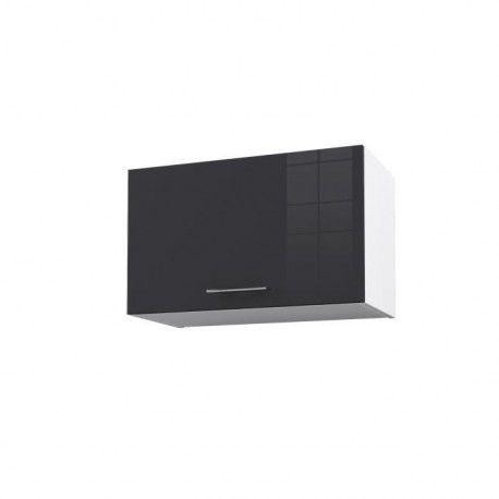 city meuble haut hotte 60 cm laqu gris brillant. Black Bedroom Furniture Sets. Home Design Ideas