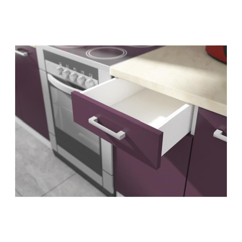 ultra meuble haut de cuisine l 60 cm aubergine mat. Black Bedroom Furniture Sets. Home Design Ideas