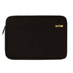 TECHAIR Housse pour ordinateur portable - 17.3` - Néoprene - Polyester Texturé - Noir et Gris - Intérieur