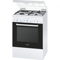 BOSCH HGD72D120F - Cuisiniere table mixte gaz / électrique-4 foyers-4200W-Four électrique-Catalyse-66L-A-Blanc