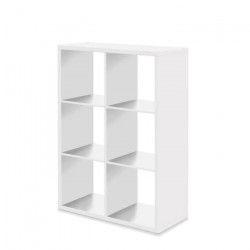 MAX6 Etagere avec 6 cubes - Style contemporain - Blanc - L 73 cm