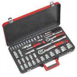 MEISTER Coffret a clés et douilles 1/4`+1/2` 64 pieces