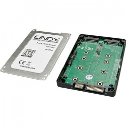 LINDY Boîtier Dual SSD M.2 RAID, SATA 2,5``