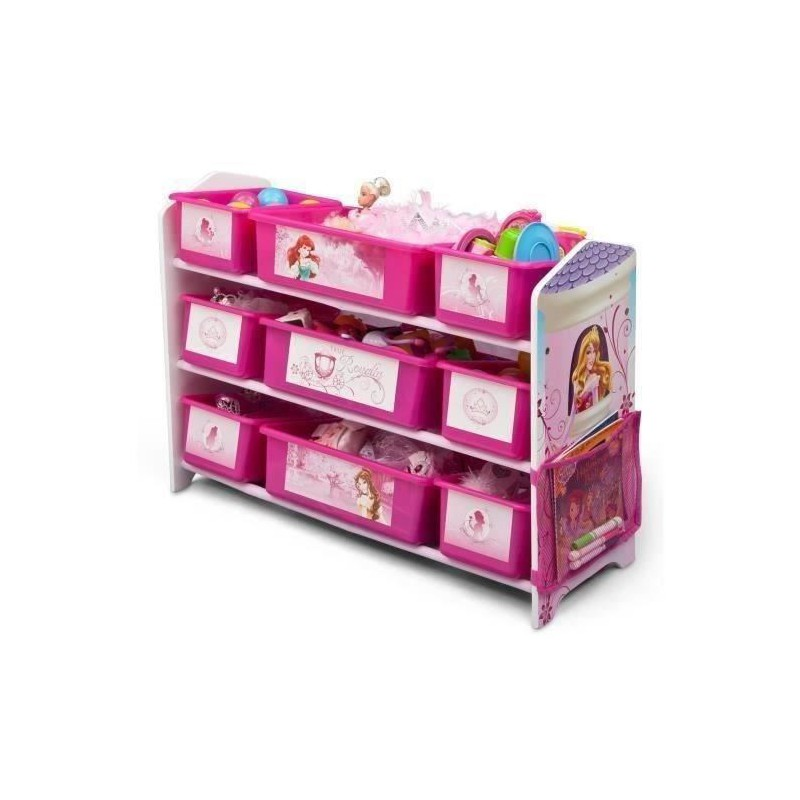 delta children princesses meuble de rangement 9 boites en plastique. Black Bedroom Furniture Sets. Home Design Ideas