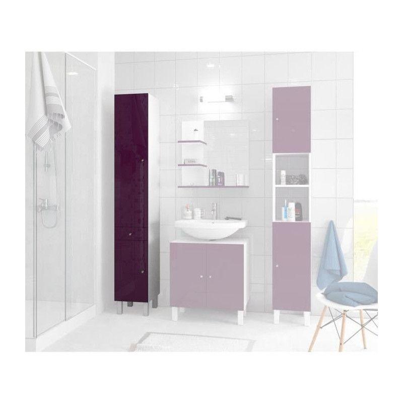 corail colonne de salle de bain l 30 cm aubergine. Black Bedroom Furniture Sets. Home Design Ideas