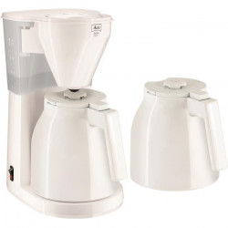 MELITTA 1010-051 Cafetiere filtre avec 2 verseuses isotherme Easy Therm - Blanc