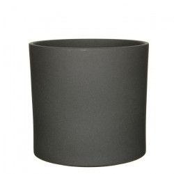 MICA Cache pot rond intérieur Era gris foncé mat - 31 xØ32,5 cm