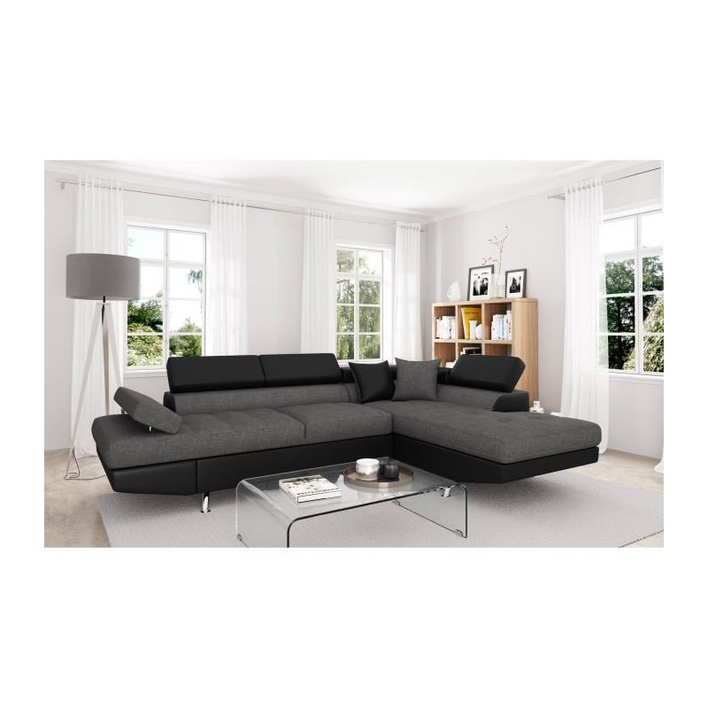 futura canap d angle droit convertible 4 places. Black Bedroom Furniture Sets. Home Design Ideas