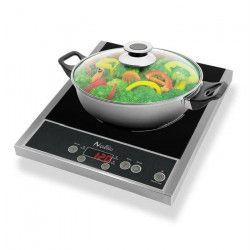 NAELIA CGF-03205 Plaque de cuisson posable a induction + faitout offert - Noir