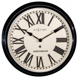 NEXTIME Horloge murale Motion Star- Métal - Rouge - Ø 30 cm