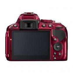 Reflex NIKON D5300 + AF-P 18-55VR - Rouge - 24,2 mégapixels - Wi-Fi et GPS intégrés