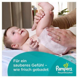 Pampers Lingettes Fresh Clean, lot de 12 Paquets, 768 Lingettes