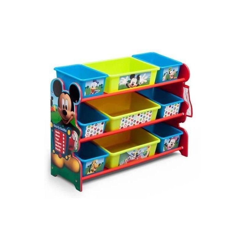 delta children mickey meuble de rangement 9 boites en plastique. Black Bedroom Furniture Sets. Home Design Ideas