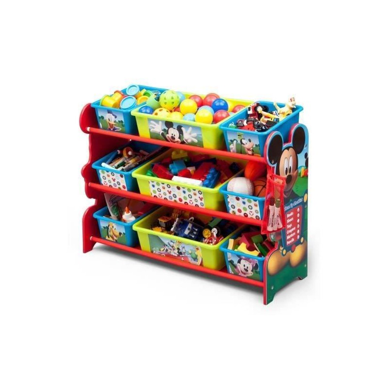 delta children mickey meuble de rangement 9 boites en plastique. Black Bedroom Furniture Sets. Home Design Ideas