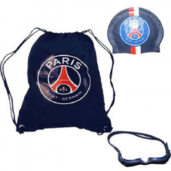 PARIS SAINT GERMAIN Coffret de Piscine complet - 30 x 39 cm - Bleu et Rouge