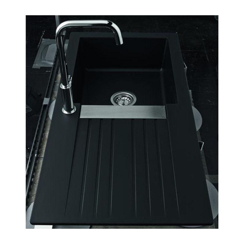 ewi evier cuisine a encastrer 1 grand bac 1. Black Bedroom Furniture Sets. Home Design Ideas