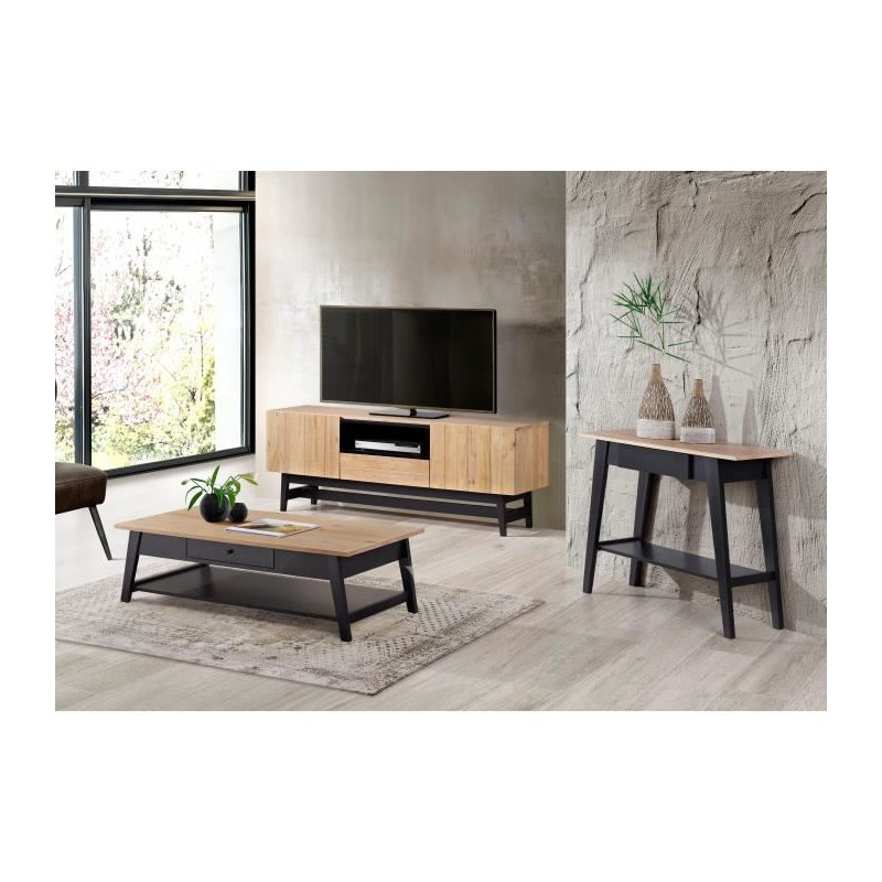 meuble tv en bois et noir sammlung von design zeichnungen als inspirierendes. Black Bedroom Furniture Sets. Home Design Ideas