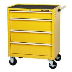 STANLEY Servante d`atelier vide 4 tiroirs métal - Capacité totale : 242 kg