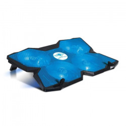 Spirit Of Gamer Refroidisseur PC AirBlade 500 Blue - 17` - Quadruple ventilateurs LED - Noir / Bleu